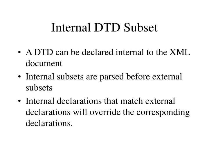 Internal DTD Subset