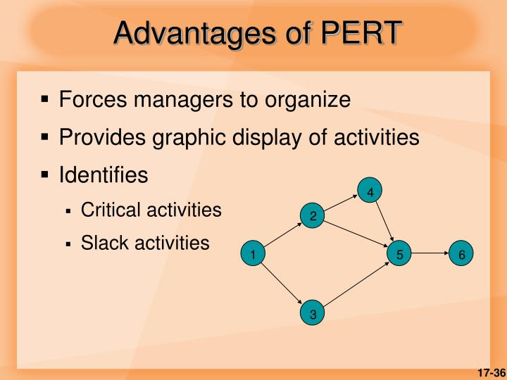 Advantages of PERT