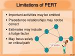 limitations of pert