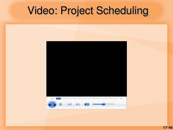 Video: Project Scheduling