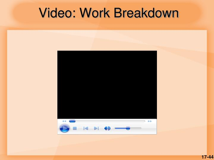 Video: Work Breakdown