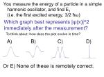 which graph best represents x 2 immediately after the measurement