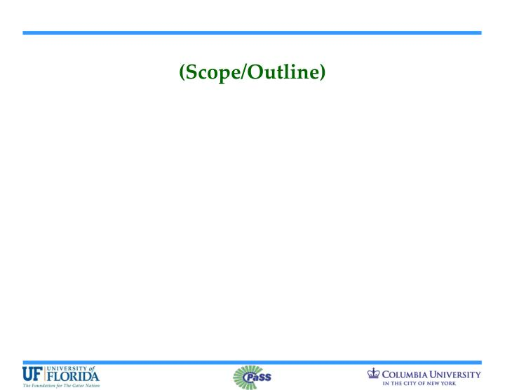 (Scope/Outline)