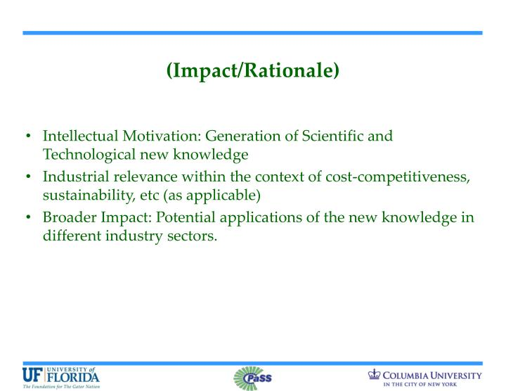 (Impact/Rationale)