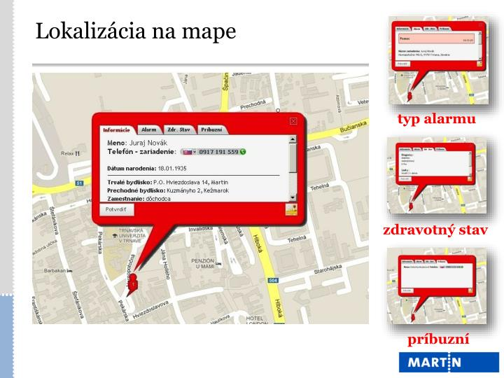 Lokalizácia na mape
