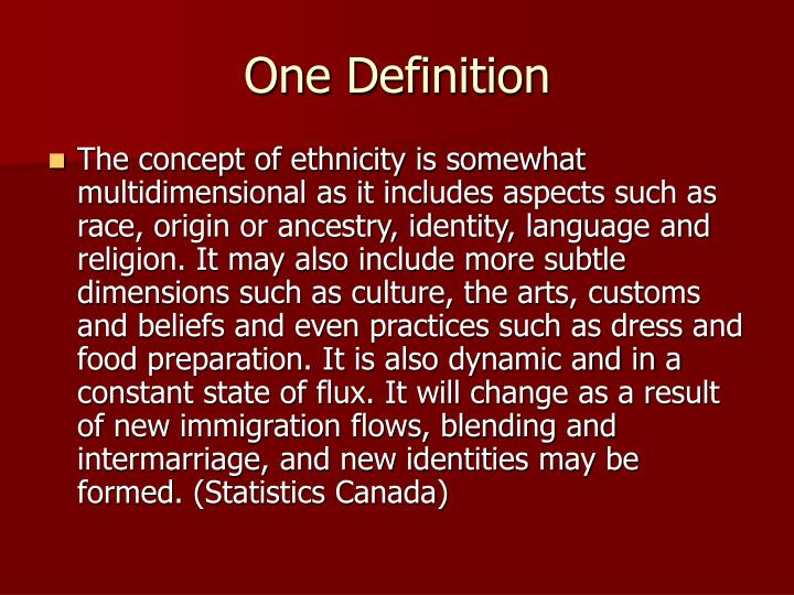 One Definition