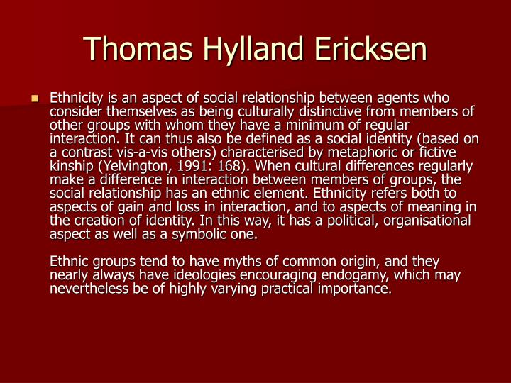 Thomas Hylland Ericksen