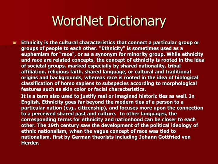 WordNet Dictionary