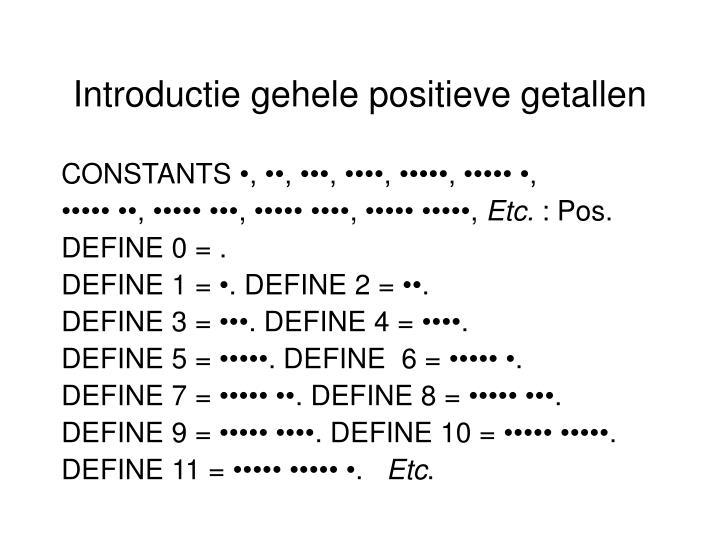 Introductie gehele positieve getallen
