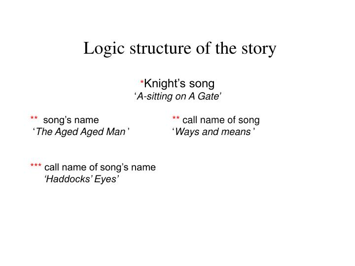 Logic structure of the story
