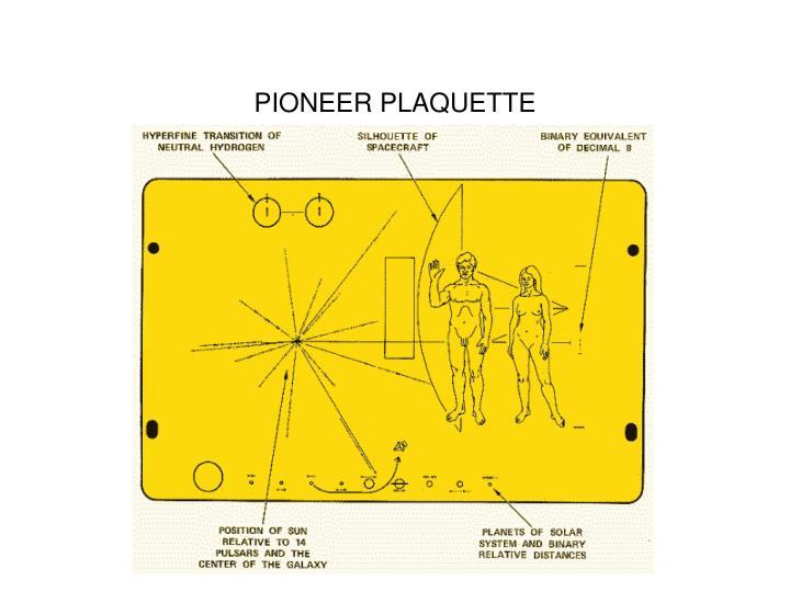 PIONEER PLAQUETTE