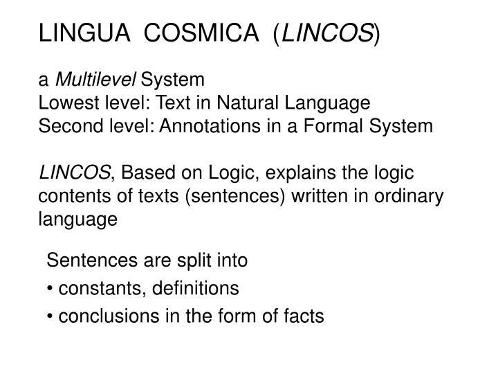 LINGUA  COSMICA  (
