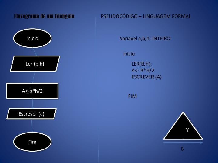 Fluxograma de um triangulo