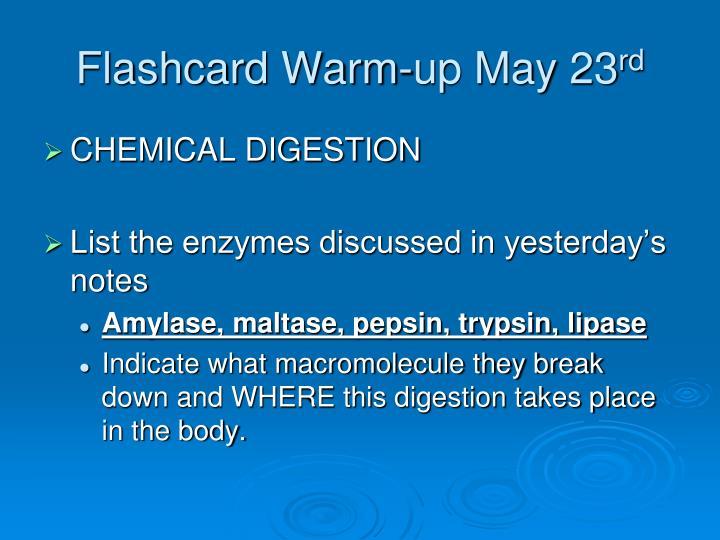 Flashcard Warm-up May 23