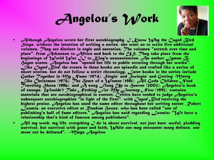 Angelou's Work