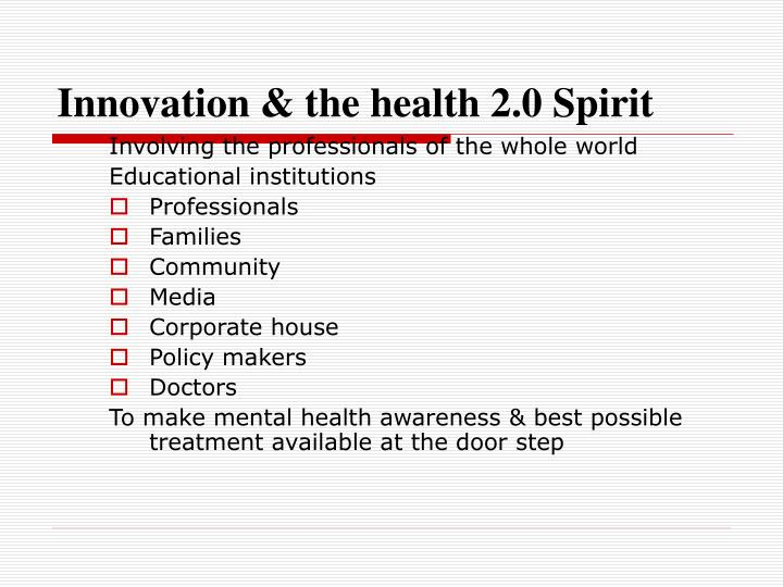 Innovation & the health 2.0 Spirit