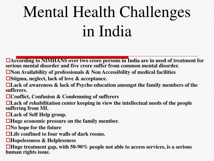 Mental Health Challenges in India