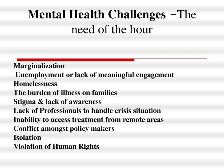 Mental Health Challenges