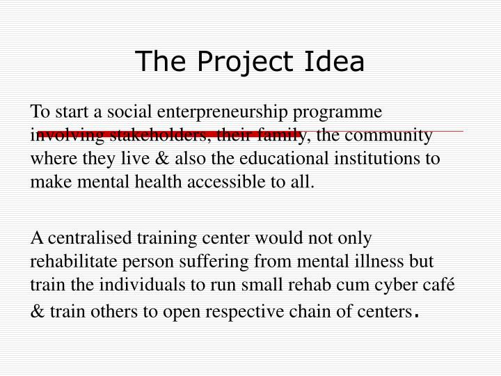 The Project Idea