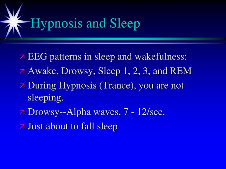 Hypnosis and Sleep