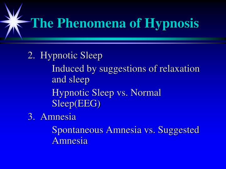 The Phenomena of Hypnosis