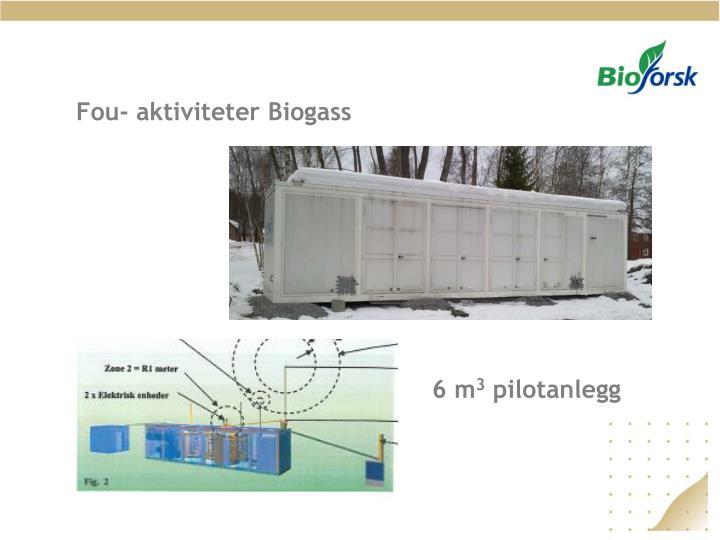 Fou- aktiviteter Biogass