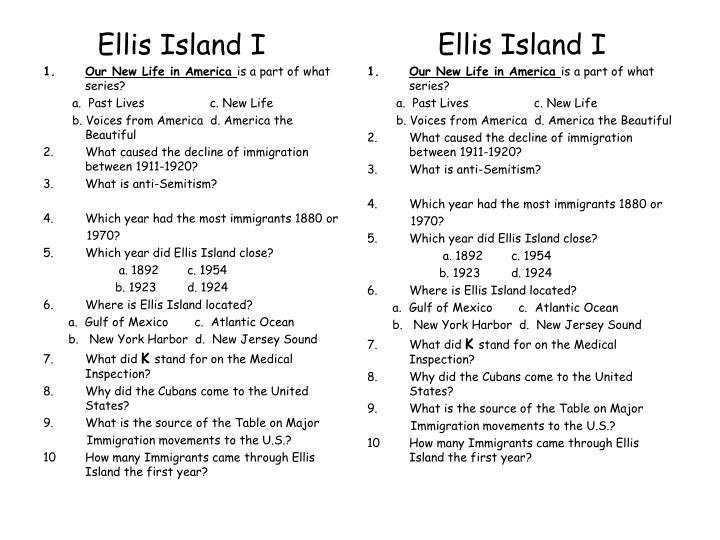 Ellis Island I