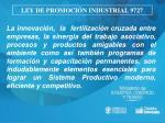 ley de promoci n industrial 972712