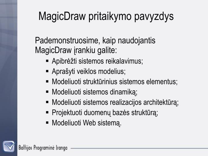 MagicDraw pritaikymo pavyzd