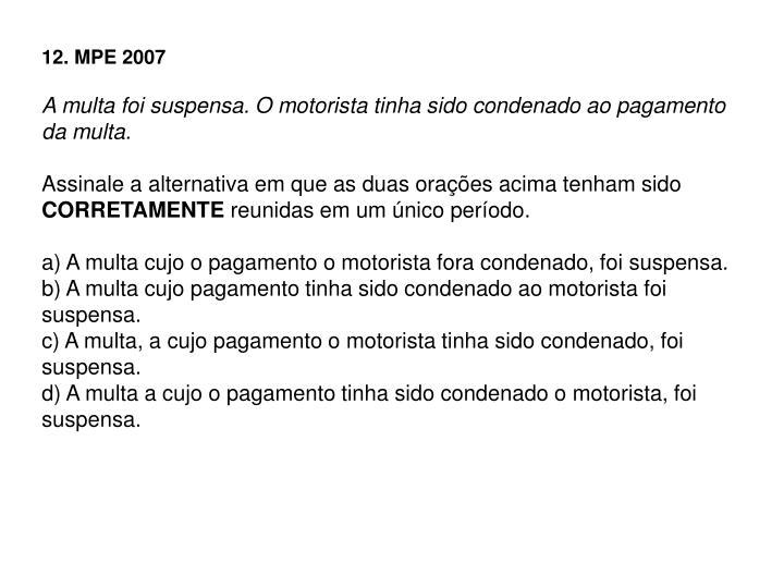 12. MPE 2007