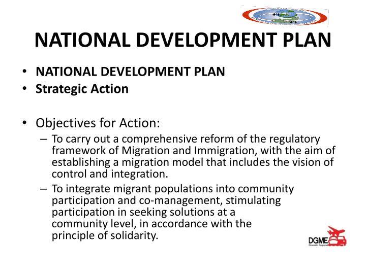 NATIONAL DEVELOPMENT PLAN