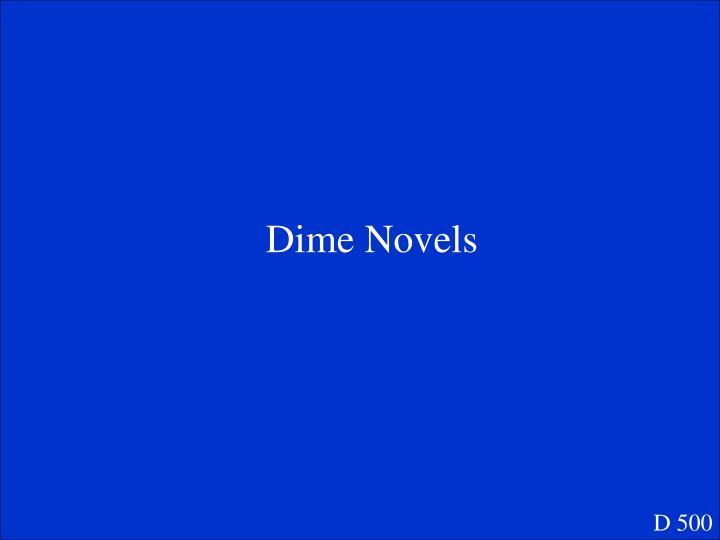 Dime Novels