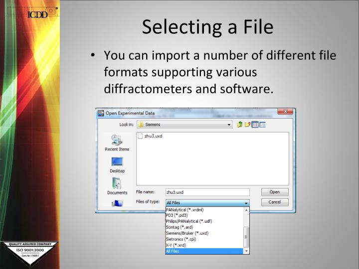 Selecting a File
