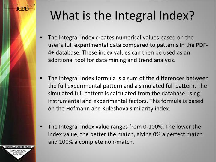 What is the integral index