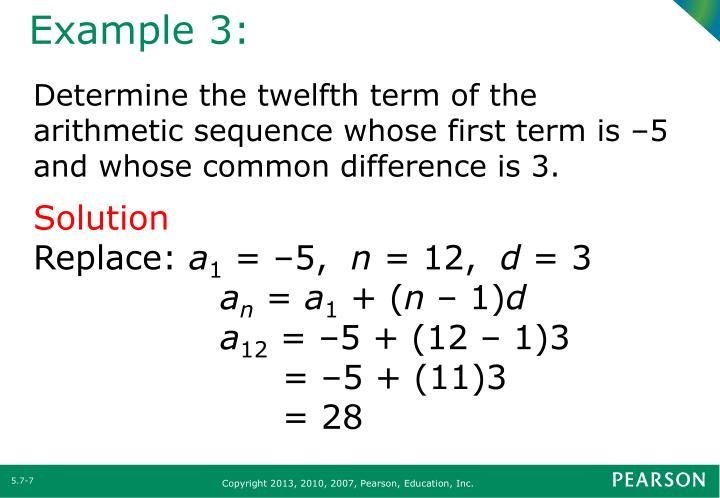 Ppt  Section  Arithmetic And Geometric Sequences Powerpoint