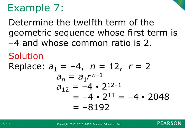 Ppt - Section 5.7 Arithmetic And Geometric Sequences Powerpoint
