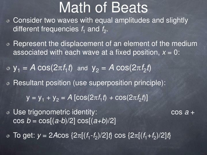 Math of Beats