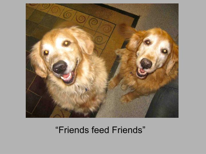 """""""Friends feed Friends"""""""