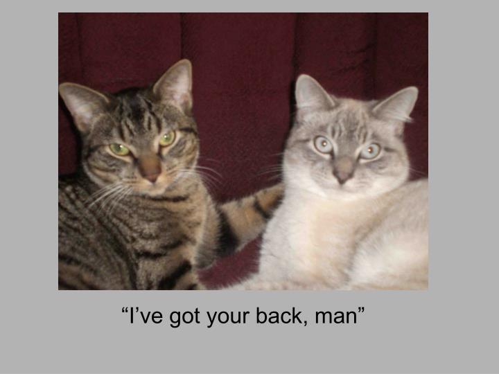 """""""I've got your back, man"""""""