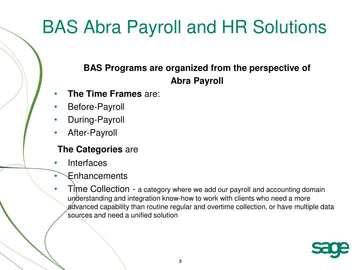 Bas abra payroll and hr solutions