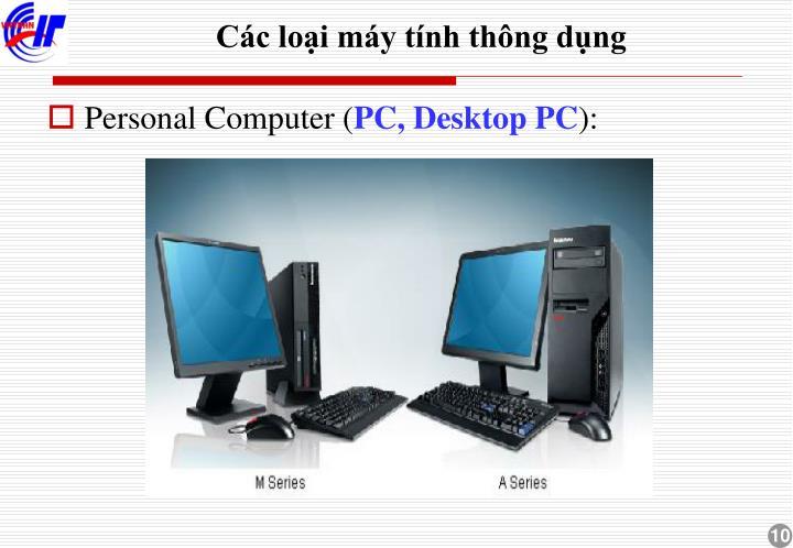 Các loại máy tính thông dụng