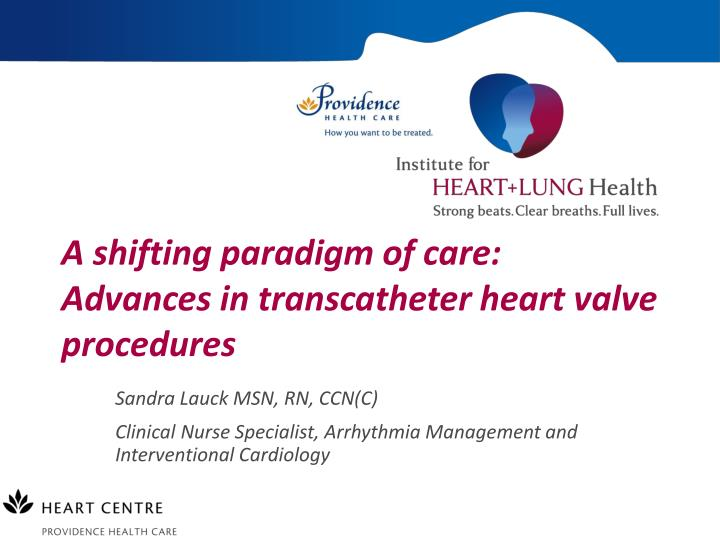 A shifting paradigm of care advances in transcatheter heart valve procedures