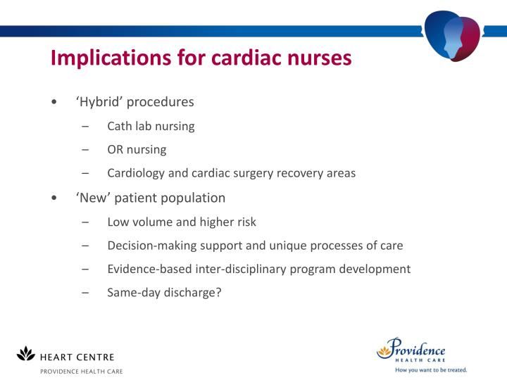 Implications for cardiac nurses