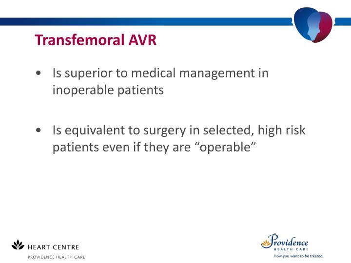 Transfemoral AVR