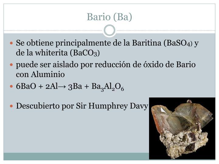 Bario (Ba)