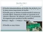 berilio be