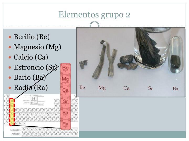 Elementos grupo 2