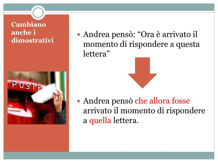 """Andrea pensò: """"Ora è arrivato il momento di rispondere a questa lettera"""""""