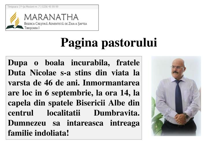 Pagina pastor