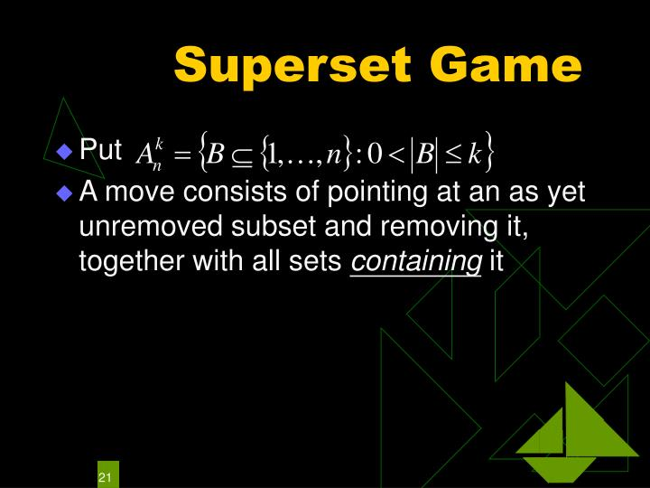 Superset Game